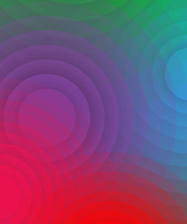 violet red: background from red, pink, violet, blue and green circles Illustration