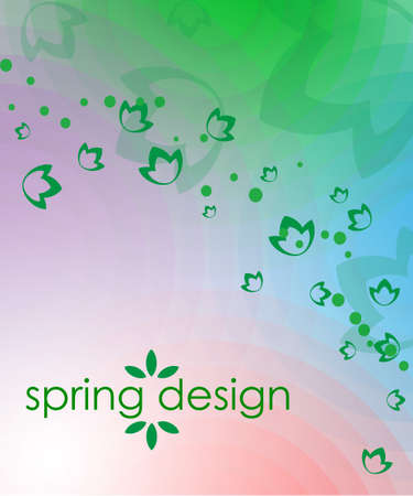 blue violet: spring background from red, blue, violet, green circles