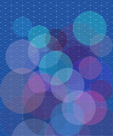 context: the concept of geometric shapes on blue background separation net Illustration