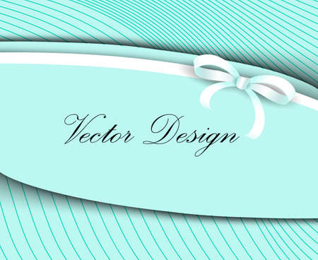 context: vector illustration for design with white bow pastel mint color