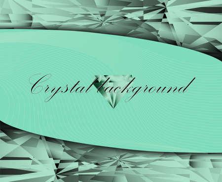 crystalline: vector illustration crystalline texture mint color