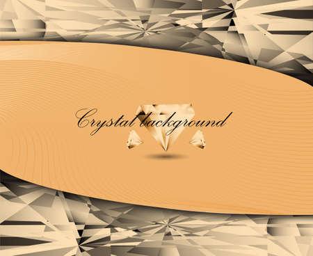 crystalline: vector illustration crystalline texture orange color