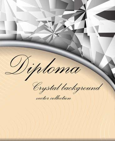 crystalline: vector illustration crystalline texture orange color for diploma
