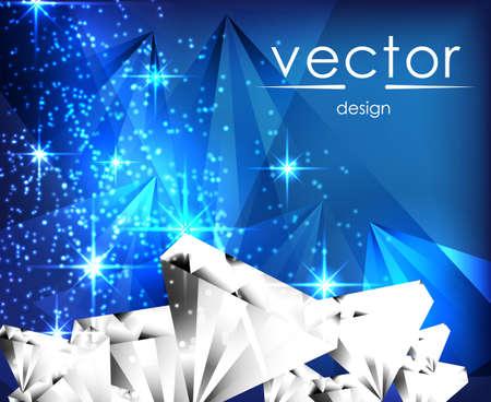sparkling: vector illustration sparkling jemstone on blue background
