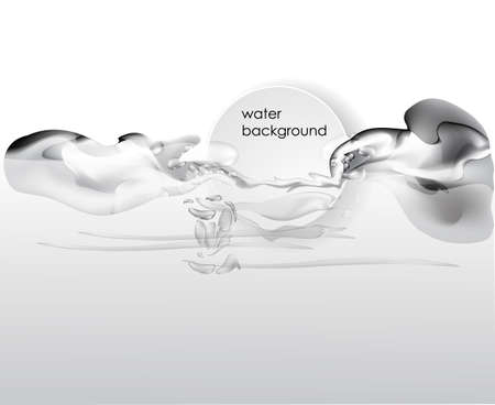 emulsion: abstract liquid vector illustration in white color Illustration