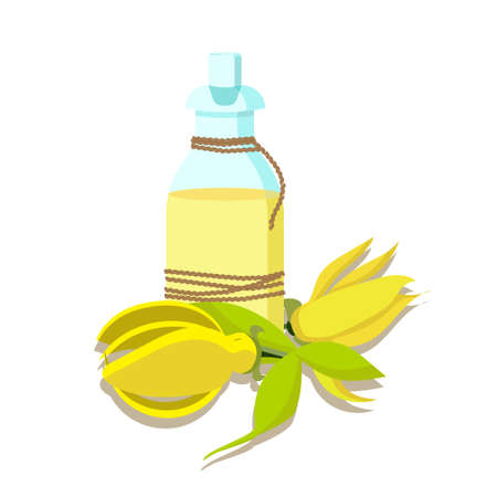 aromatherapy oil: the concept of aromatherapy and spa with canananga (ylang ylang) essential oil