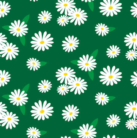 masajes relajacion: sin patrón de flores de manzanilla  concepto de aromaterapia Vectores