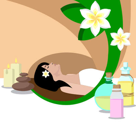 session: the concept of Spa procedure with image of session of massage