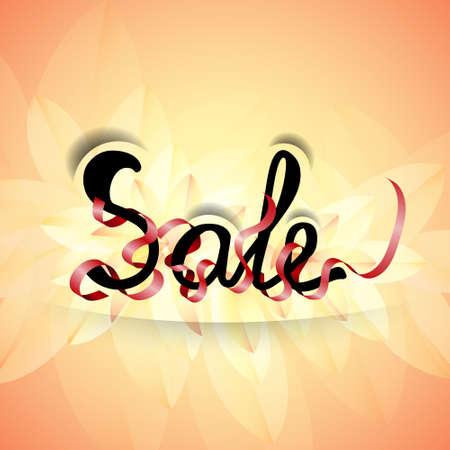 Sale background. Promotion banner. Vector illustration