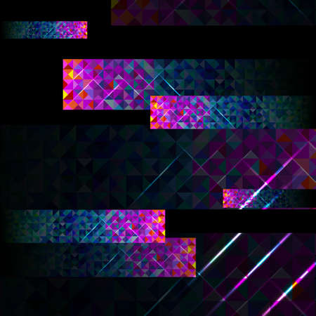 vector set of the background from triangles blue and purple colors