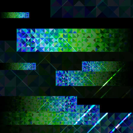gamma tone: vector set of the background from triangles blue and green colors