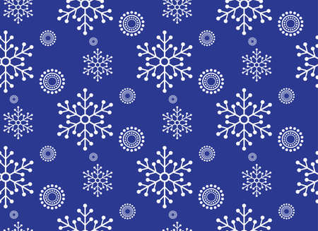 white winter: winter seamless pattern. winter blue and white background. white snowflake