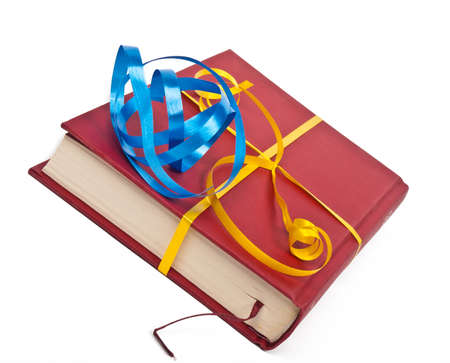 red book prepared for gift  photo