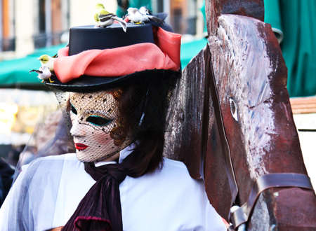 beautiful mask on venice carnival 2012 photo