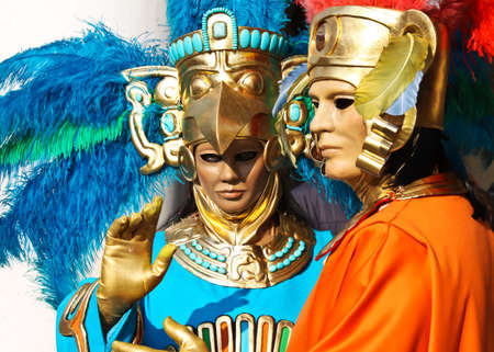 man and woman dressed up on venice carnival Stock Photo