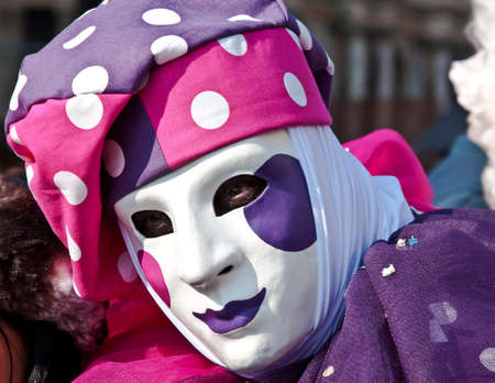 sunshine day on venice carnival photo