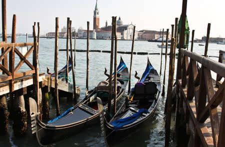 gondolas in Venice Stock Photo - 12553392
