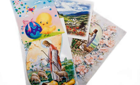 easter postcards collection with jesus and lambs photo