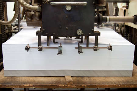 blank paper ready for coming into offset machine