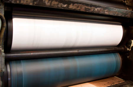 offset press - printing detail in print industry  photo