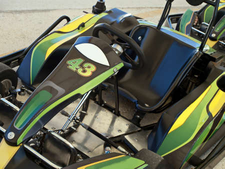 where to go: empty seat of go kart - where is driver
