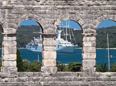 amphitheater windows and cruise ship