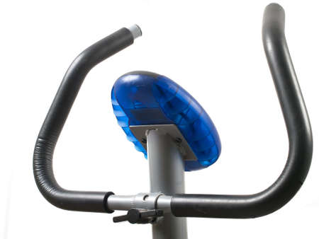 Exercise gym bike - front view of handlebar