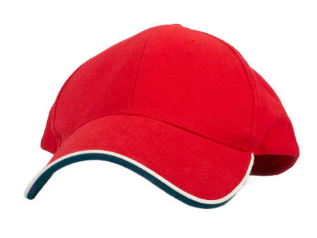 red baseball cap - front view