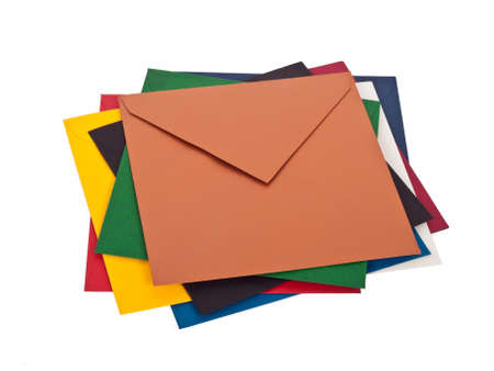 a pile of colorful envelops
