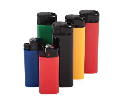 lighters in vertical position - shot in studio Stock Photo - 16760321