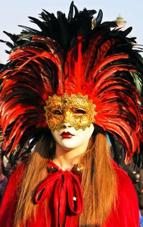 masked woman: mujer enmascarada Foto de archivo