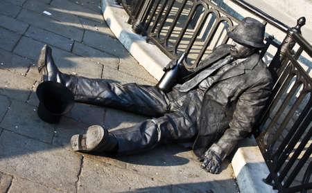 man masked like a drunk man Stock Photo - 17193455