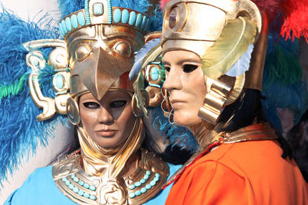 man and woman dressed up on venice carnival Stock Photo - 17230867