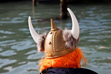 one viking looks for his boat photo