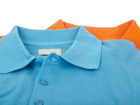 mens polo shirts - blue and orange colors