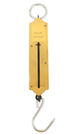 pocket weighing scale isolated on white background