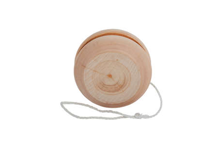 wooden yo-yo toy isolated on white background Stock Photo