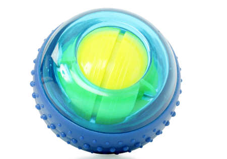 rigidity: powerball isolated on white background Stock Photo