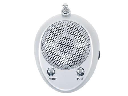 mini portable radio receiver isolated on white background Stock Photo