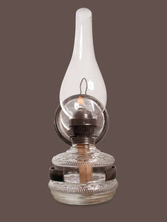 old vintage petroleum lamp isolated Stock Photo