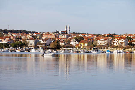 april 15: MEDULIN, CROATIA - APRIL 15: Detail of Medulin, Croatian touristic place in early spring on April 15, 2015