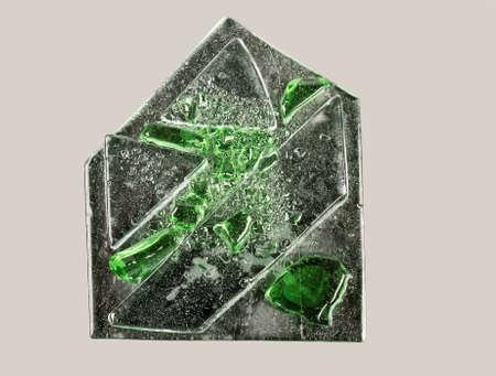 glasswork: Glass fusion - glass artwork, studio shot