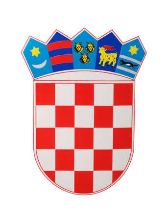 photograph: emblem of Croatia, photograph, studio shot Stock Photo