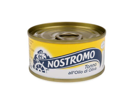 renamed: PULA, CROATIA - APRIL 17, 2016: Nostromo is one of the best known food brands in Italy. It was born as a company in 1941. Renamed in 1951, the Nostromo brand makes its products at its factory in Grado, in North-East Italy.