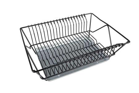 dish rack shelf isolated on white background Lizenzfreie Bilder