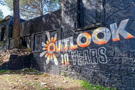 PULA, CROATIA - OCTOBER 23, 2017: The Outlook Festival is celebrating 10 years at the beautiful Fort Punta Christo, Pula in Croatia