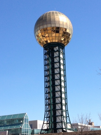 architecture: Worlds fair sun sphere in Knoxville TN