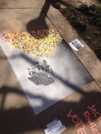 Sidewalk art made from chalk Zdjęcie Seryjne