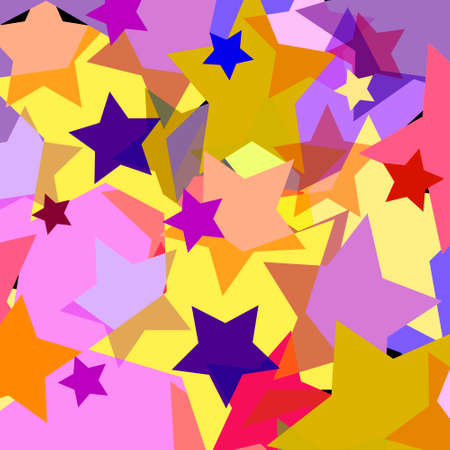 bright color transparent stars geometric abstract background