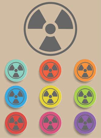 radiation sign: Radiation sign - a illustraton danger symbol